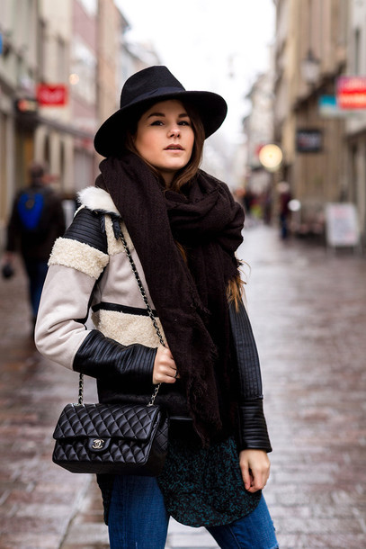 the fashion fraction blogger jacket sweater blouse jeans scarf shoes bag