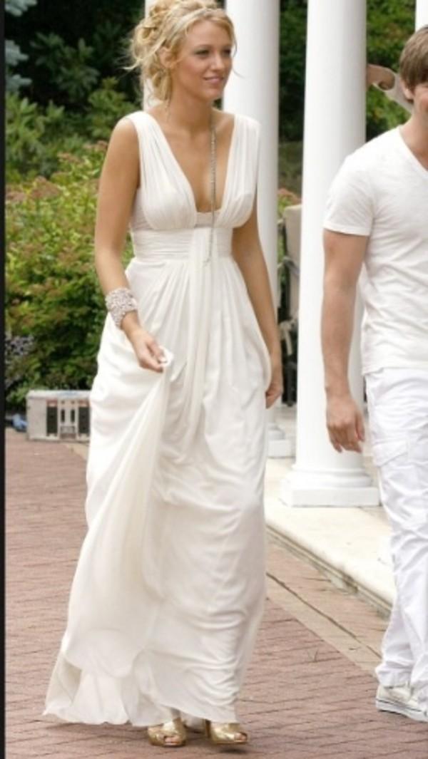dress gossip girl serenas white party dress