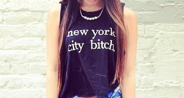 t-shirt ny city bitch
