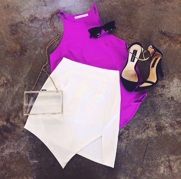 bag clear women shoulder bags shoes sunglasses blouse skirt