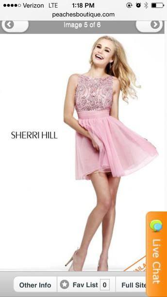 dress pink sherri hill dress