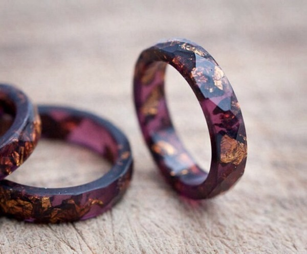jewels violet ring gold multicolor