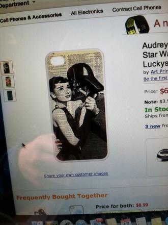 jewels iphone case audrey hepburn star wars darth vader iphone 4 case