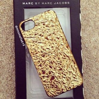 phone cover gold gold case iphone case iphone 5 case marc jacobs marc by marc jacobs apple iphone original beautiful tumblr tumblr outfit