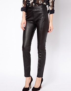 Ted Baker | Ted Baker Superstretch Leather Pants at ASOS