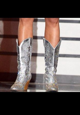 shoes silver cowboy boots miranda lambert rhinestones country country style glitter glitter shoes texas festival carrie underwood sequins cowgirl redneck sliver boots