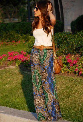 Zara Paisley Print Wide Leg Trousers Palazzo SOLD OUT SIZE XS | eBay