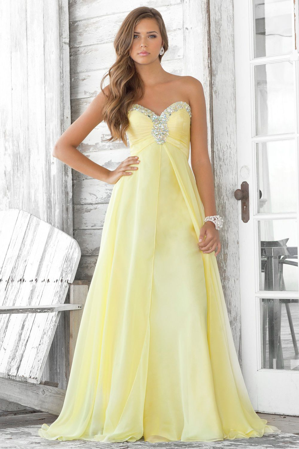 Buy 2013 A-Line Absorbing Best Sell Fresh Infatuate Sweetheart Neckline Ruffle Beads Working Column Chiffon Floor Length Prom Dress Online Cheap Prices