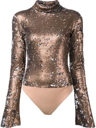 bodysuit women spandex grey metallic underwear