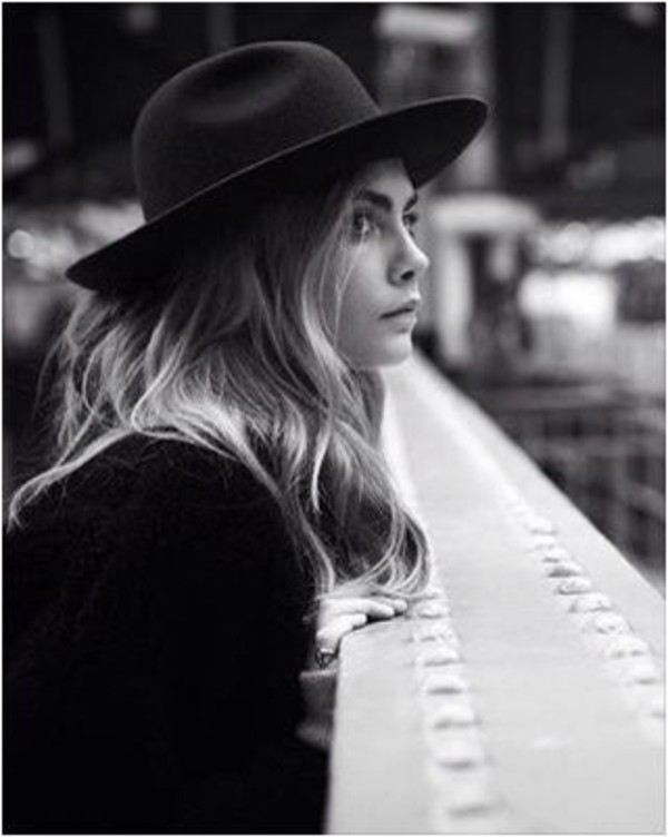 hat black hat felt hat fall accessories cara delevingne