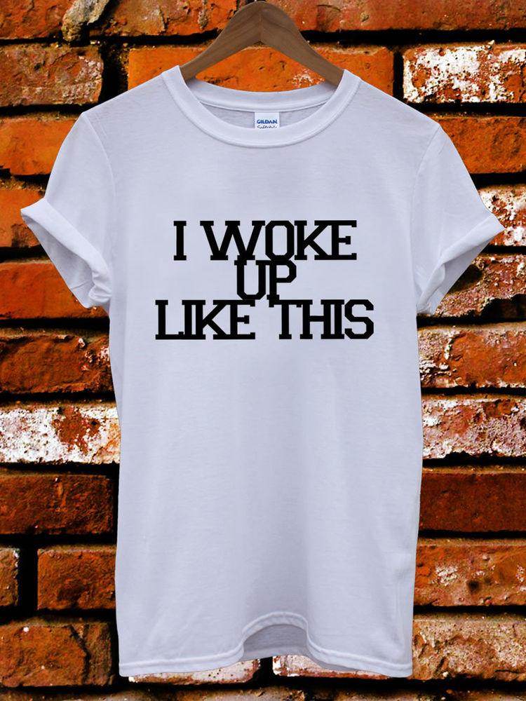 I Woke Up Like This Yonce Flawless Tumblr Men Women Unisex T Shirt Tank Top Vest | eBay
