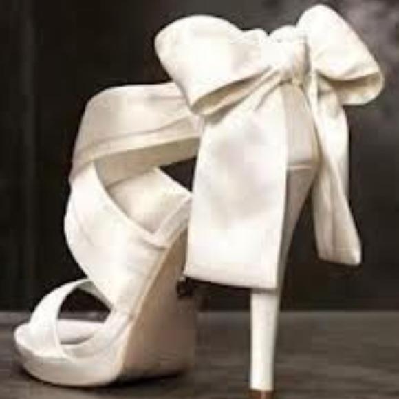 33% off Vera Wang Shoes - Vera Wang Ivory heels from Sarah's closet on Poshmark