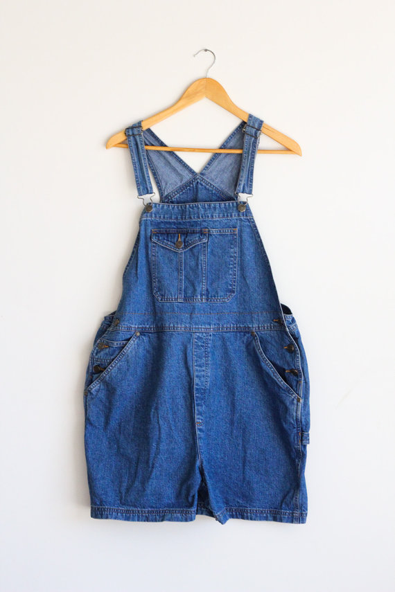 90's Overall Shorts by LemonBright on Etsy