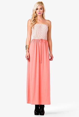 Seaside Strapless Maxi Dress | FOREVER21 - 2040950601