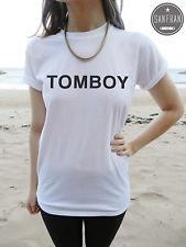 TOMBOY Rita Ora T-shirt Top White Black Grey FASHION Tom boy SWAG HIPSTER RETRO | eBay