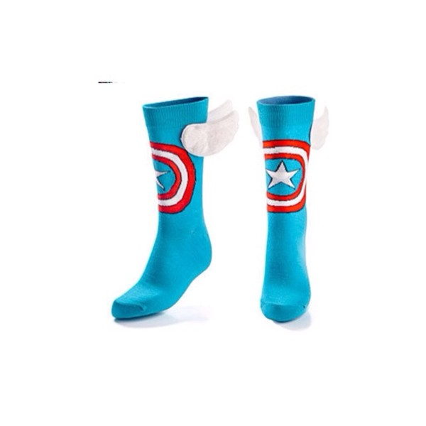 shoes socks superheroes superheroes captain amerika fly blue red white