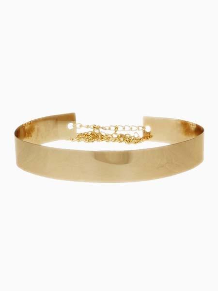 Metallic Golden Belt | Choies