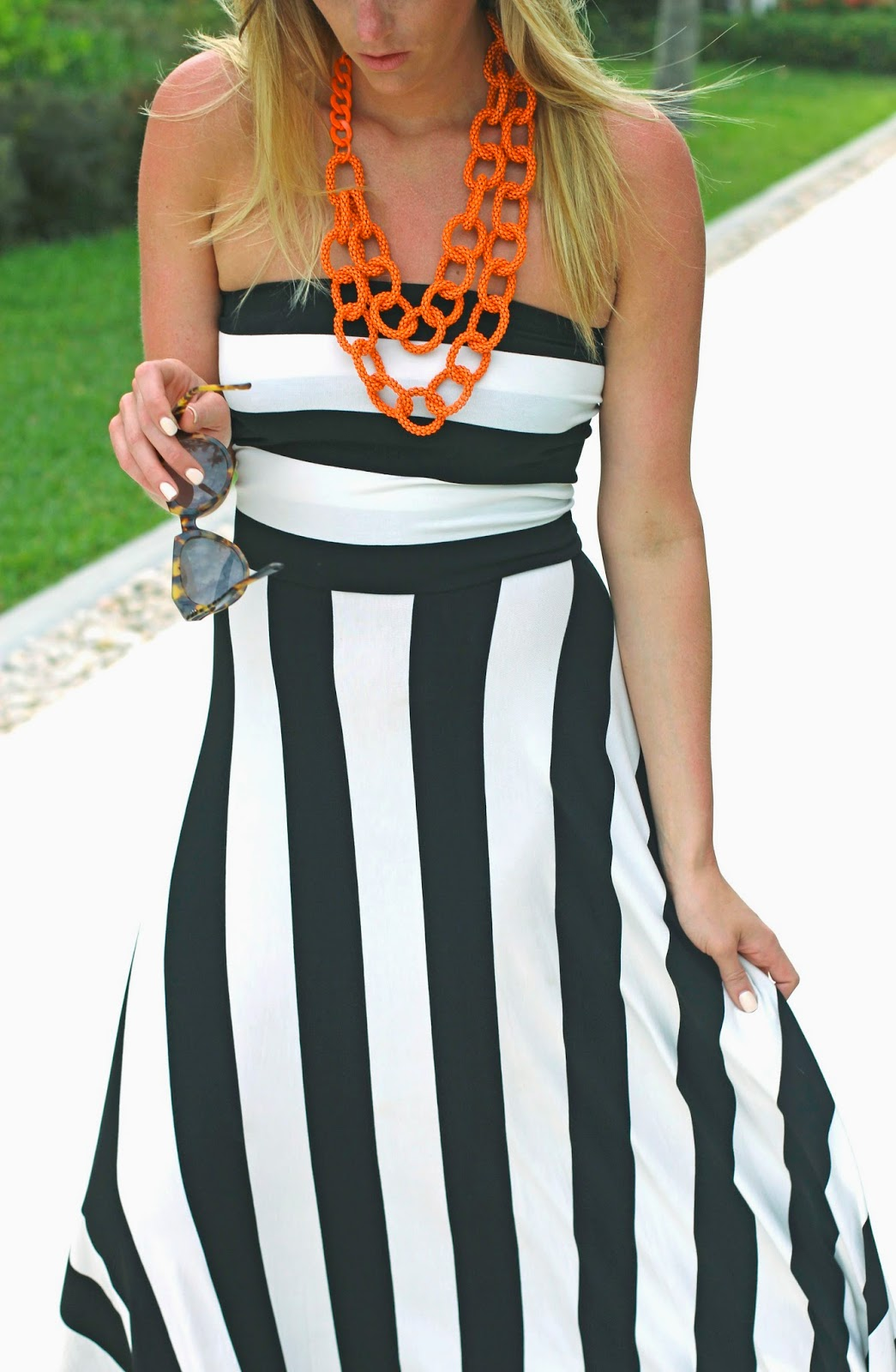 Devon Rachel: A Black And White Maxi Dress