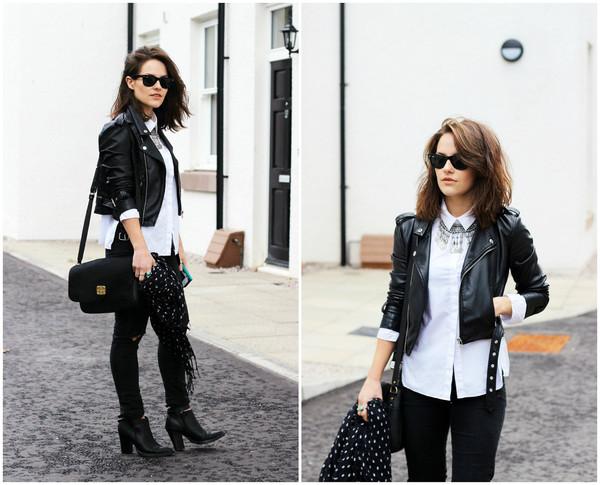 the little magpie jacket jeans shoes bag jewels