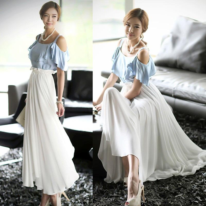Women Summer Evening Beach Dress Korea Party Cocktail Long Tunic Dress XB755 | eBay