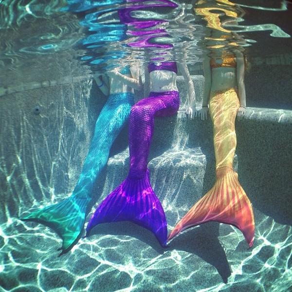 swimwear mermaid rainbow tail