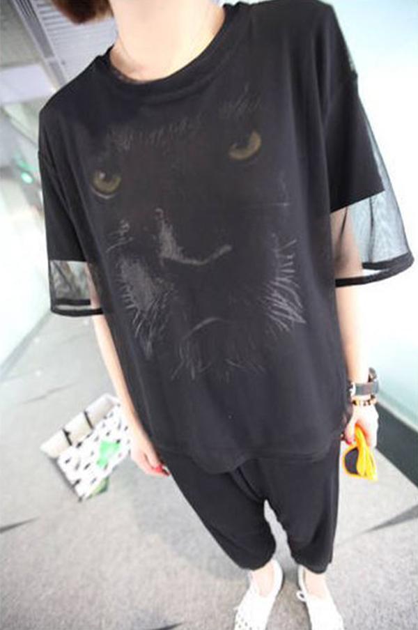 Sexy Women See through Sheer Mesh Short Sleeve Tee T Shirt Oversize Tops Blouse | eBay