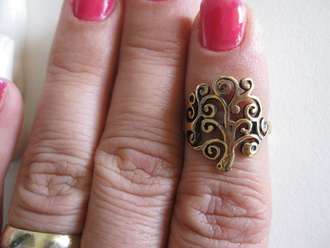 jewels lifetree tree of life jewelry boho jewelry frantic jewelry hand jewelry ring rings and tings lifestyle boho chic knuckle ring brass knuckles fashion