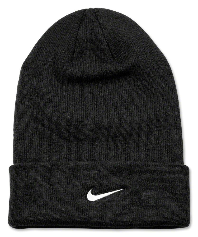 Nike Stock Cuffed Knit Beanie (Blk/Wht) - WorldSoccerShop.com