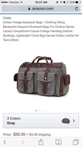 bag leather canvas duffel