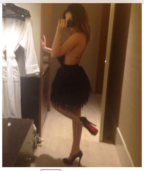 dress little black dress black fluffy open back backless sexy backless dress hot mini dress short party dresses