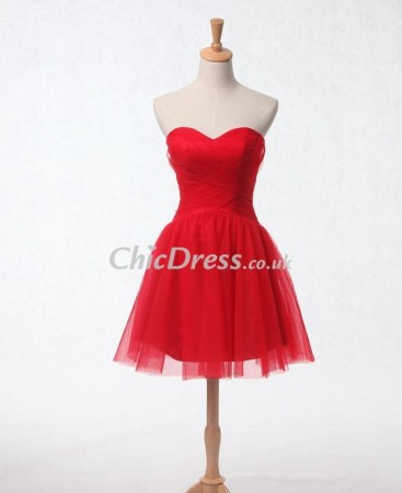 Sweetheart Tulle Short Cocktail Dress PCD-0018