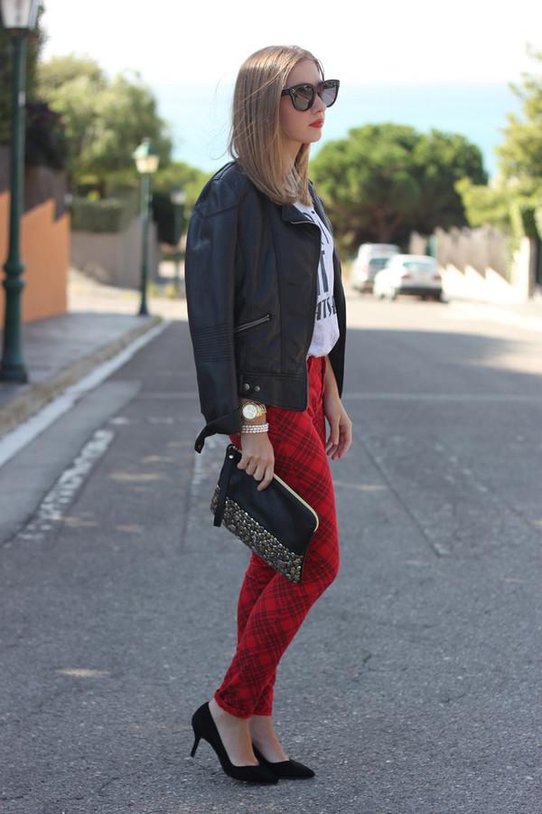 say queen jacket t-shirt sunglasses jeans bag shoes