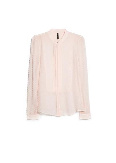 silk-blend plumeti blouse