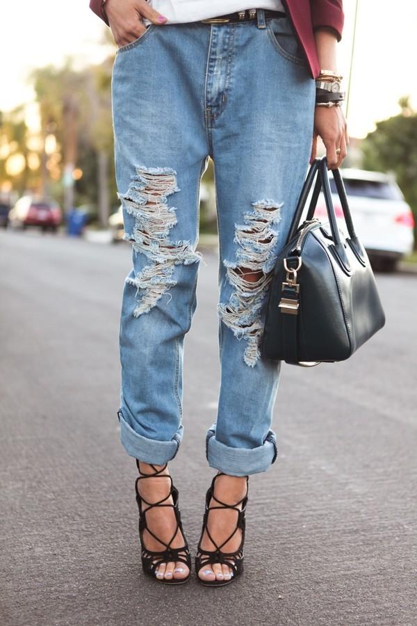 jeans shoes bag boyfriend jeans