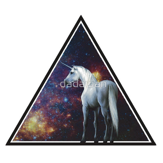 """Galaxy unicorn triangle"" T-Shirts & Hoodies by dadawan 