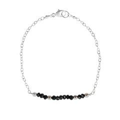 Faceted Black Spinel Bracelet – Keltie Leanne Designs