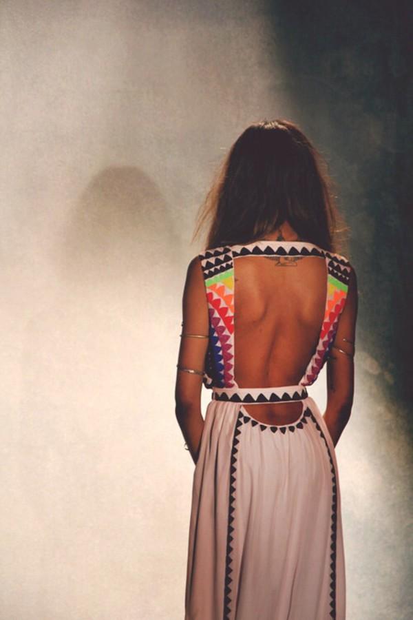 dress tribal pattern