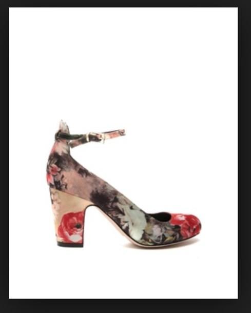 shoes flowers heels trendy