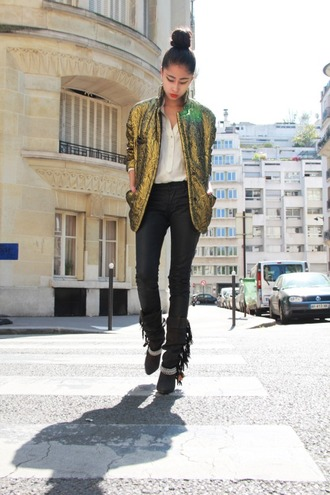 jacket denni chic muse shiny