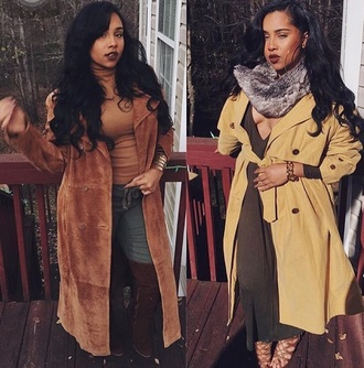 coat trench coat yellow trench coat fall outfits