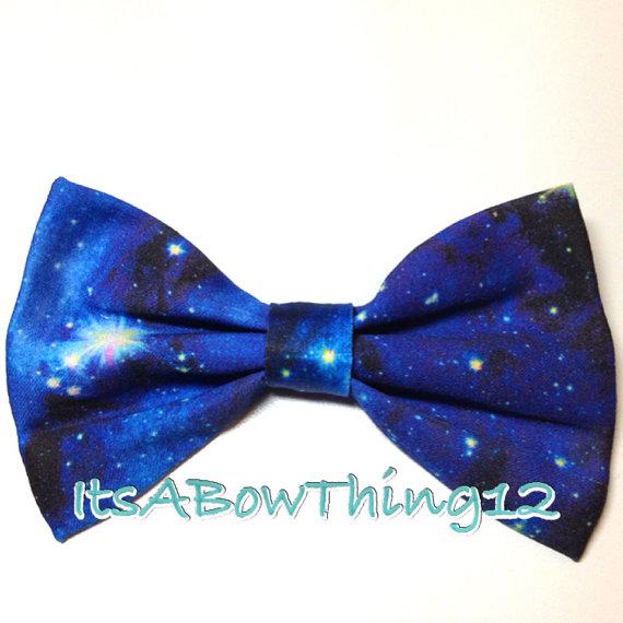 Nebula Blue Pleiades Galaxy Bow by ItsABowThing12 on Etsy