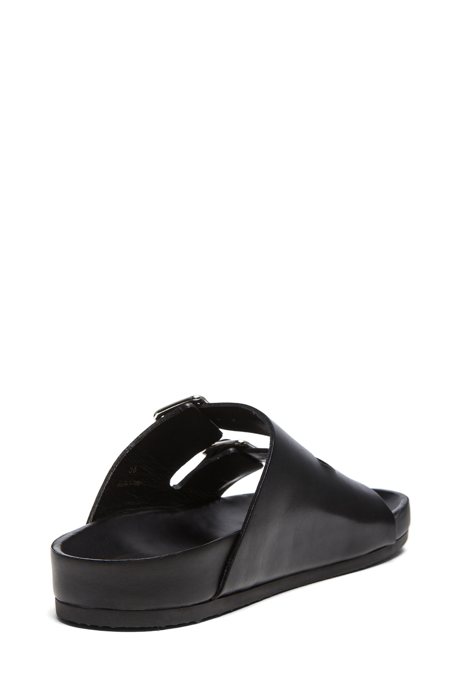 GIVENCHY Barka Casual Calfskin Leather Sandals in Black