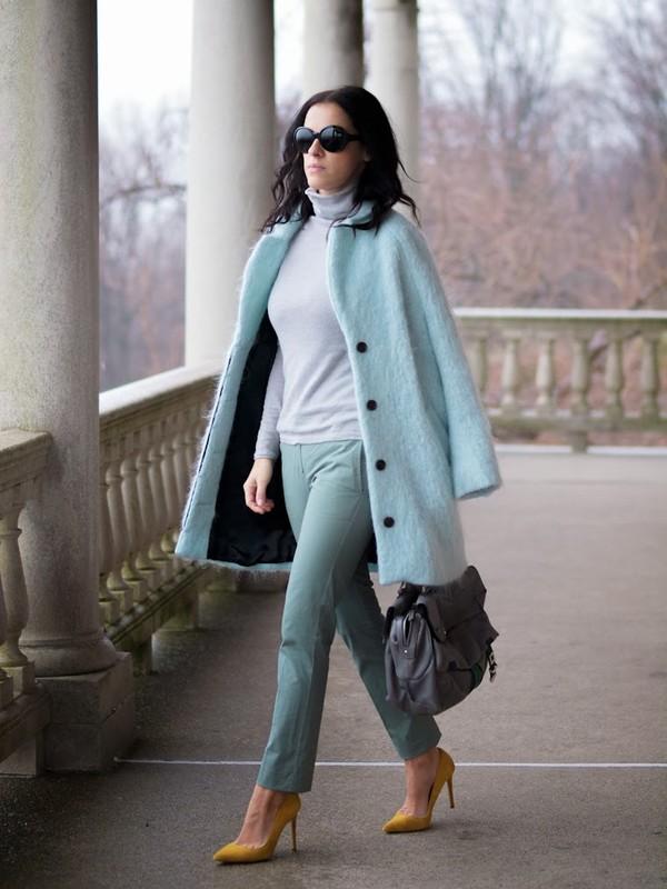 bittersweet colours coat bag pants shoes jewels sunglasses
