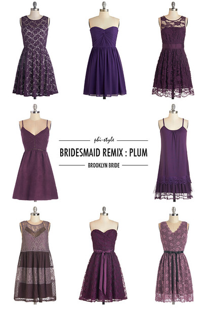 bklyn bride blogger bridesmaid plum purple dress dress