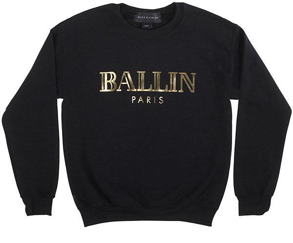 "Alex & Chloe's ""BALLIN Paris"" T-Shirt & Sweatshirts - The Latest Fashion Pun of 2013"