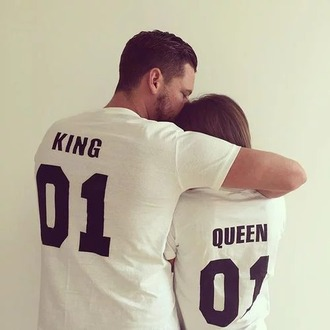 t-shirt white swagg t shirt white t-shirt mens t-shirt king and queen matching couples