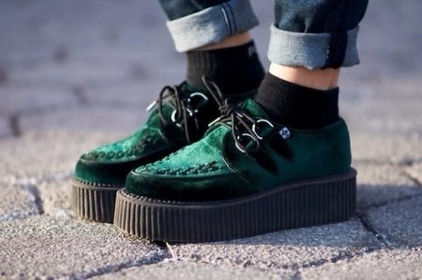 shoes velvet creepers velvet shoes