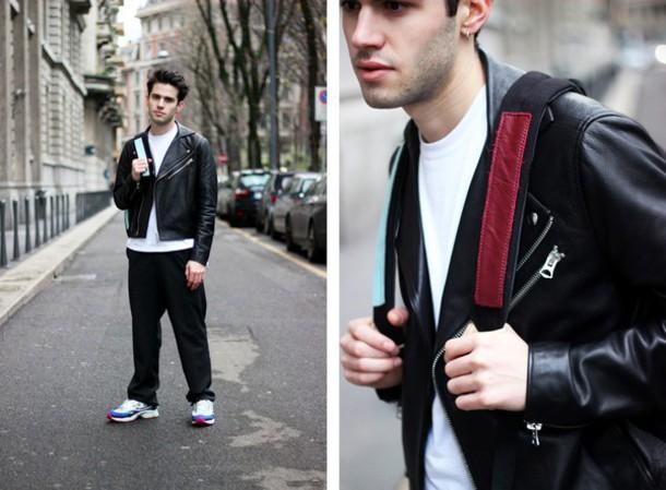 starecasers blogger menswear mens jacket leather jacket jacket pants t-shirt shoes mens leather jacket