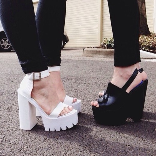 shoes heels chunky heels