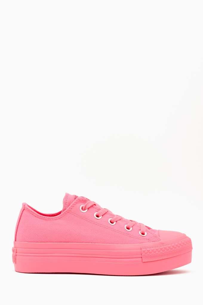Converse All Star Platform Sneaker - Pink at Nasty Gal